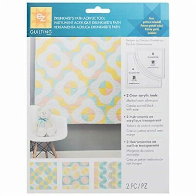Ez Simplicity Drunkards Path Acrylic Template Set - Quilting Patchwork