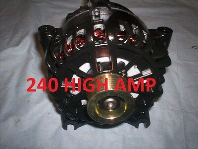240 HIGH AMP BLACK HD ALTERNATOR 2004-2003 Lincoln Navigator 5.4L Generato