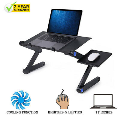 Super Fans Portable Folding Laptop Desk Adjustable Computer Table Stand Tray