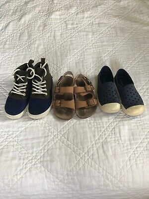 88e1569a0160 Old Navy Toddler Shoes Lot Size 9 Sandals High Tops Water Shoes Play Blue