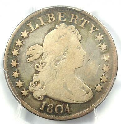 1804 Draped Bust Quarter 25C - PCGS VG Details - Rare Key Date Certified Coin!