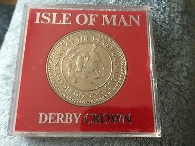ISLE OF MAN 1980 UNC BICENTENARY OF THE DERBY CROWN - cased