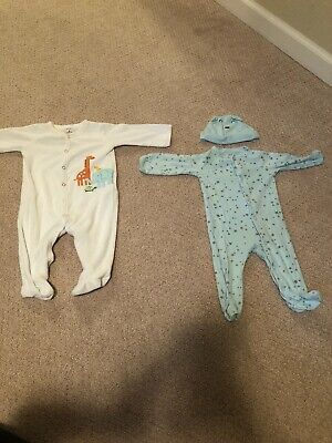 Carters Baby Boy (6Months) Lot Of 2 Button Closure Footed Sleepers -