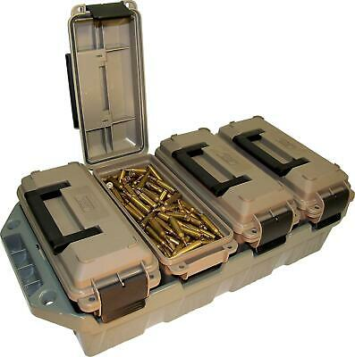 AMMO CRATE 4 Can Utility Box Stackable All-Caliber Case Bulk Ammunition Storage