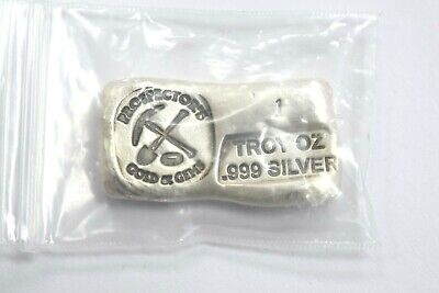 1 Troy Oz. 999 Fine Silver Prospectors Gold and Gems Hand Poured Bar