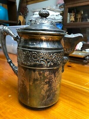 Large Antique Silver Plated Fancy Ice Water Pitcher Wilcox Silver Co.