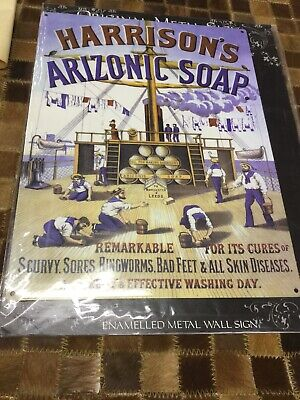 SUNLIGHT SOAP BATHROOM ADVERT METAL WALL SIGN RETRO STYLE 12x16in 30X40cm
