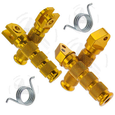 Gold Front Rear Sport Foot Peg Set For Suzuki GSXR 97-05 Step Rider Passenger