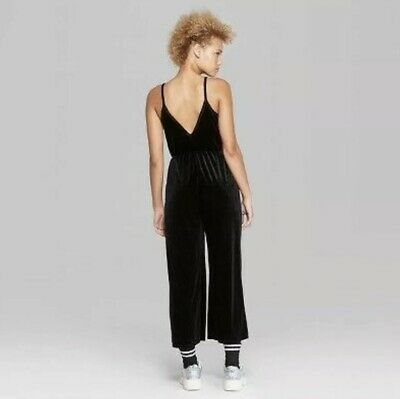 Womens Knit V-Neck Jumpsuit - Wild Fable - Black - NWT