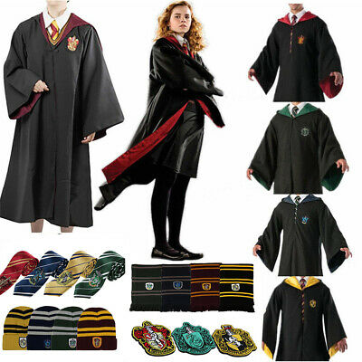 Harry Potter adulte enfants Robe Cape Costume Chapeau Cravate écharpe cosplay F