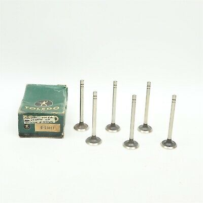 Fits 50 1950 Chevy Cars 6 Cylinder Exhaust Valves LOT of 6 Toledo S1867 NORS