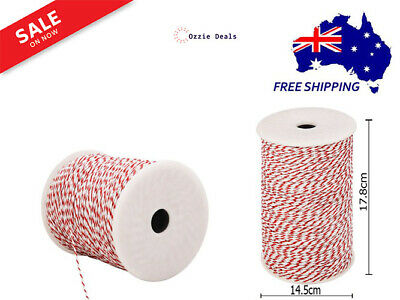 Giantz 500m Stainless Steel Polywire Poly Tape Electric Fence 2.3mm Red & White