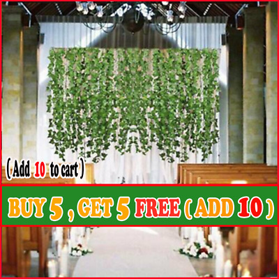 2M Artificial Ivy Leaf Trailing Vine Fake Foliage Flower Hanging Garland Plant G