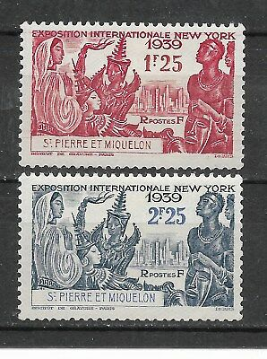 2 new stamps* 1939. St Pierre and Miquelon. NEW YORK International Exh..(6653)