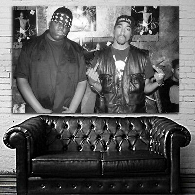 #22BW Tupac 2Pac Poster Hip Hop 36x48 inch More Sizes Canvas Stretcher Bar Frame