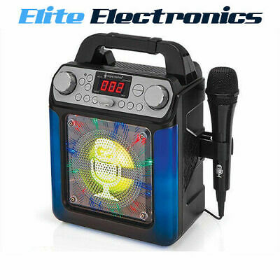 Singing Machine Groove Mini Bluetooth Karaoke System Sml650Bk