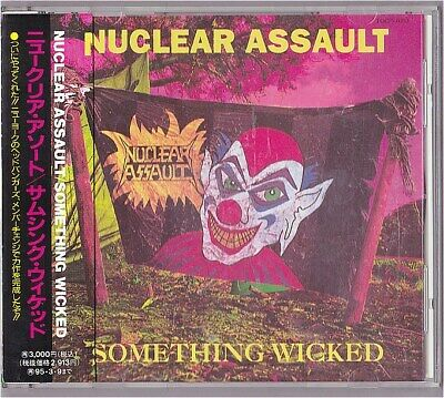 Nuclear Assault Something Wicked Japan CD 1995 TOCP-7653 PROMO Very Rare