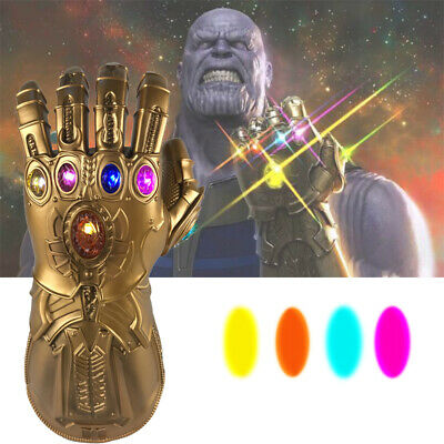 Hot ! The Avengers Infinity War Thanos LED Light Gauntlet Gloves Cosplay Costume