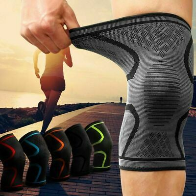 2 X Knee Sleeve Compression Brace Support Sport Joint Pain Arthritis Relief US