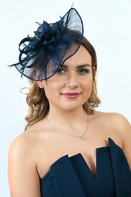 Ladies Fascinator Headpiece Race Day Hats Wedding Fascinators Sinamay RRP £65