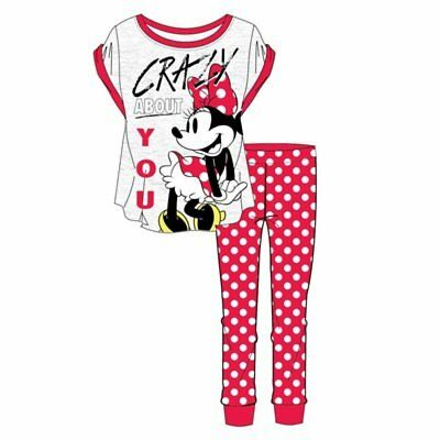 Womens Disney Minnie Mouse Crazy Bout You  Pyjamas  12-14 & 16-18