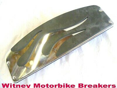 Harley Davidson Flame Footboard Insert Touring Fl Softail Foot Board One Only