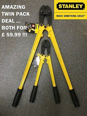 "STANLEY BOLT CUTTERS CROPPERS  750mm/30"" & 450mm/18"" TWINPACK  AMAZING DEAL !!"