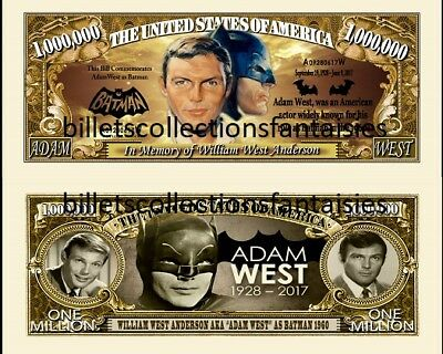 William West A. BATMAN. Million Dollar. Billet de commémoration / Collection