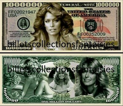 FARRAH  FAWCETT  . Million Dollar USA . Billet de commémoration / Collection