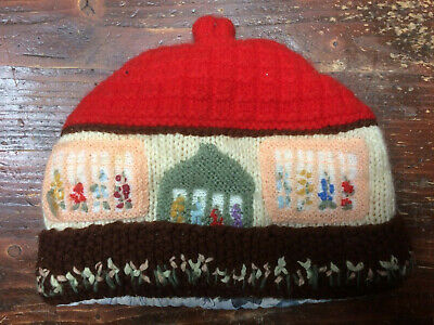 HAND KNITTED Tea Cosy or accentric hat. Fits size 60 or large tea pot.
