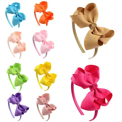 Girls Bow  Fashion Cute Sweet Accessories Kids Hair Hoop Band Headbands Headwear