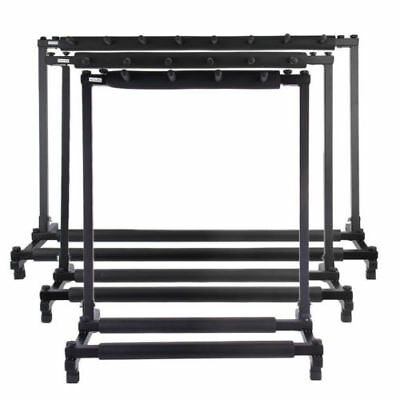 3579-Guitar Instrument Folding Storage Stand w/ Foam-Padded Rails - Black