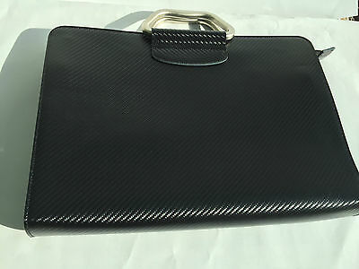 Pinetti Bag Uno with zip and belt look Carbon Black