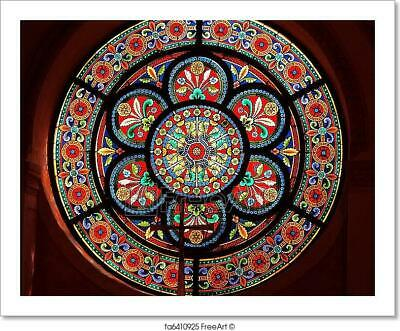 Stained Glass In Catholic Church Art Print Home Decor Wall Art Poster