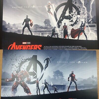 Genuine Avengers Endgame Odeon A3 posters - Designs 1 & 2  - Marvel (2019)