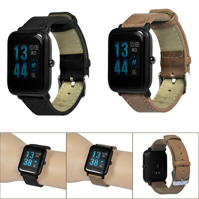 Retro Replacement Bracelet Leather Band For Xiaomi Huami Amazfit Bip Youth Watch