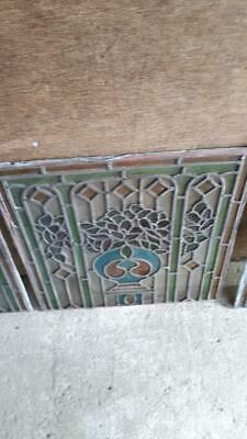 6 Antique period front door leaded stained glass panels