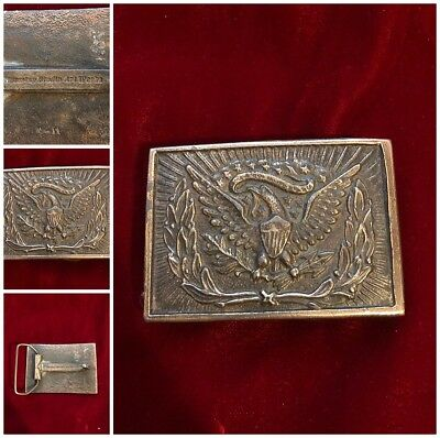 "Wyoming Studio Art Works Belt Buckle Eagle Great Seal USA 3"" x 2""  Vtg"