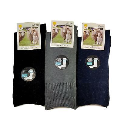 Mens Womens Merino Wool Loose Top Socks Diabetic Comfort Foot Sport Size 7-11