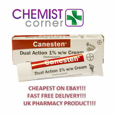 CANESTEN Athletes Foot & Jock Itch Dual Action Clotrimazole Cream Treatment 30g
