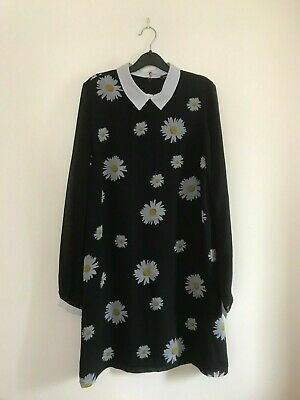 River Island Daisy Print Shift Dress Size 8 ladies Womens Girls Summer Flowers