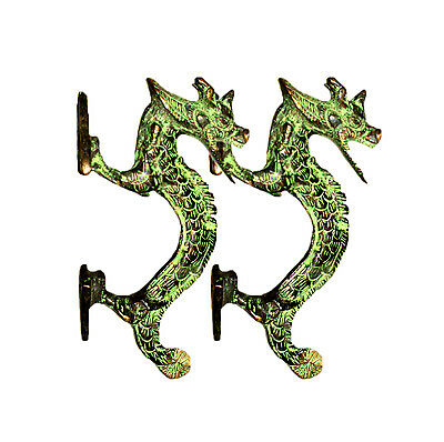 A Pair of Antique style brass made Chinese Dragon SHAPE DOOR HANDLES India