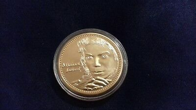 Michael Jackson Coin Gold The King of Pop Rock /& Roll Music USA Thriller 5 Five