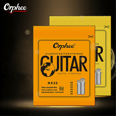 1 Set Classic Classical Guitar Strings Nylon and Silver Plated Wire NX Series- C