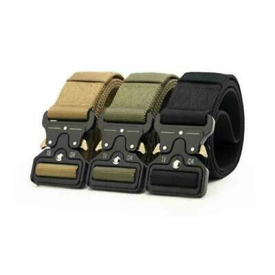 Tactical Heavy Duty-USA Soldier Mens Military Belt Web Combat Army Training S8V4