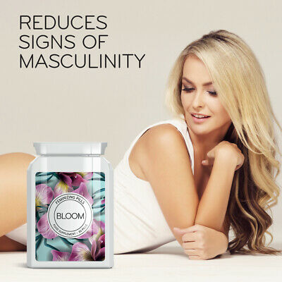 Bloom Feminizing Pills. Reduce body & facial hair, hour-glass figure, feminine