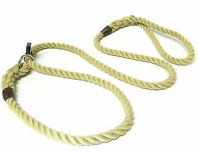 KJK DOUBLE STOP SLIP LEAD IN 8mm ROPE WITH STRONG LEATHER STOP. FIGURE OF 8