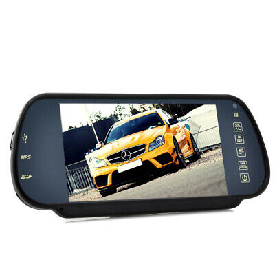 7 Inch Rear View Mirror Monitor Hands Free Bluetooth Multimedia and MP4 Player