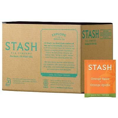 Stash Tea Co. Orange Spice Black Tea Bags Soothing Brew Hot Iced 100-Count