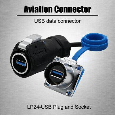 LP24-USB Waterproof Connector Plug Socket for Industrial Computers Signal towers